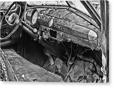 Take Me For A Ride Bw Canvas Print by JC Findley