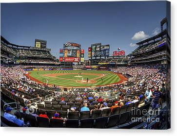 Mets Canvas Print - Take Me Out To The Ballgame by Evelina Kremsdorf