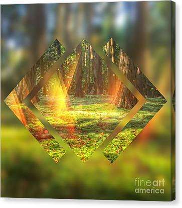 Take Me To The Magic Forest Canvas Print by Beverly Claire Kaiya