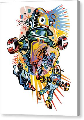 Take Me To Your Client Canvas Print by David Chestnutt