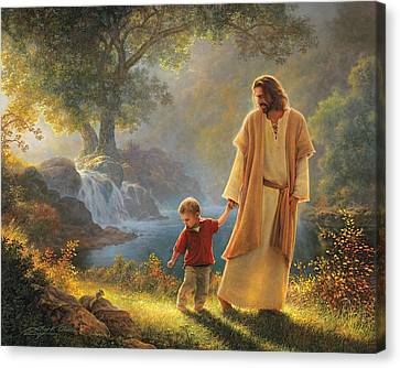 Robes Canvas Print - Take My Hand by Greg Olsen