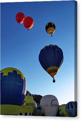 Canvas Print featuring the photograph Take Off by John Swartz