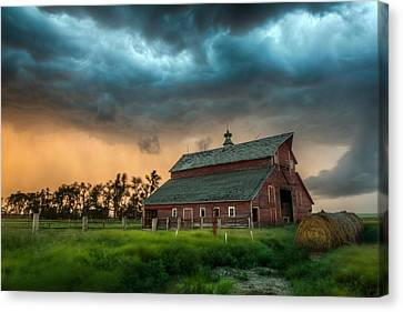 Barn Storm Canvas Print - Take Shelter by Aaron J Groen