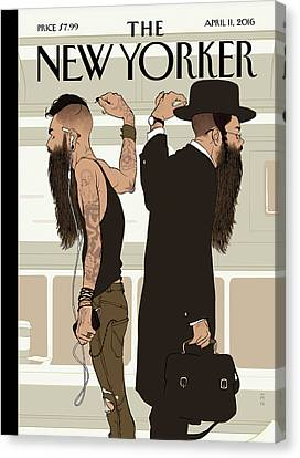 Take The L Train Canvas Print by Tomer Hanuka