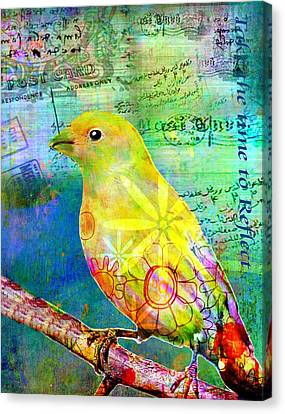Collage Art Canvas Print - Take The Time To Reflect by Robin Mead