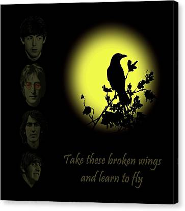Canvas Print featuring the photograph Take These Broken Wings And Learn To Fly by David Dehner