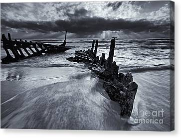 Crepuscular Rays Canvas Print - Taken By The Sea by Mike  Dawson