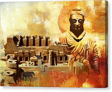 Takhat Bahi Unesco World Heritage Site Canvas Print by Catf