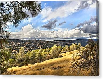 Taking A Ride Up Highway 32 Canvas Print