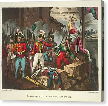 Taking Of Ciudad Rodrigo Canvas Print by British Library