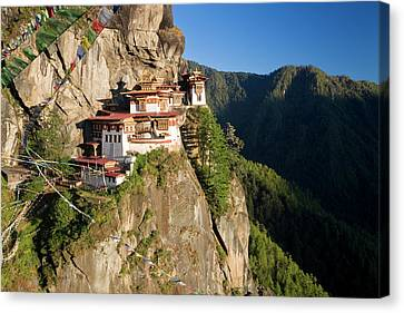 Taktsang Dzong (monastery Canvas Print by Peter Adams