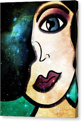 Tala - Goddess Of Stars Canvas Print by Angelica Smith Bill