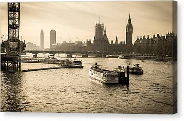 Tale Of Two Cities Canvas Print by Glenn DiPaola