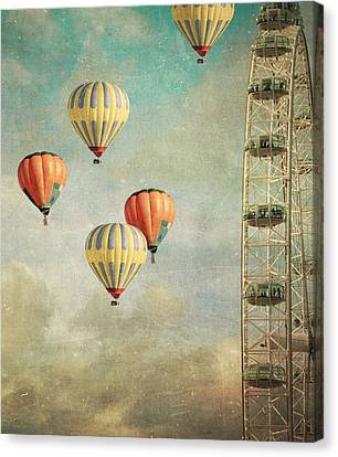 Hot Air Canvas Print - Tales 485 by Violet Gray