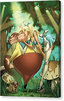 Tales From Wonderland Tweedledee And Tweedledum Canvas Print by Zenescope Entertainment