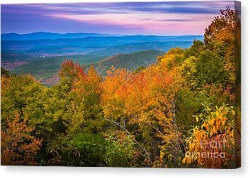 Fall Grass Canvas Print - Talimena Autumn Vista by Inge Johnsson