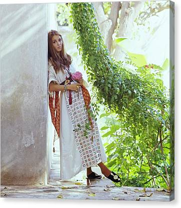 Getty Canvas Print - Talitha Getty By Her House In Morocco by Patrick Lichfield