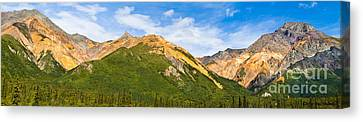 Talkeetna Mountains Canvas Print by Chris Heitstuman