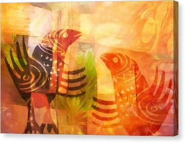Talking Birds Canvas Print by Lutz Baar