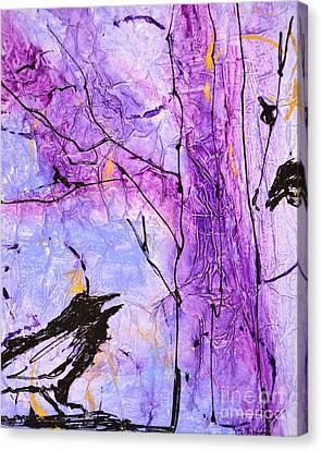 Talking Crows Canvas Print by Barbara Tibbets