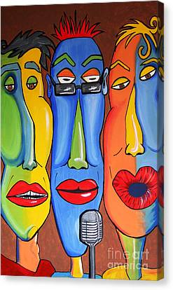 Talking Heads Canvas Print by Vickie Scarlett-Fisher