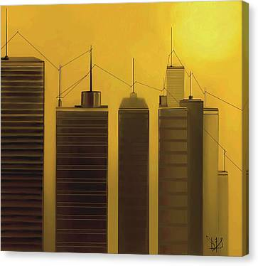 Talking Towers  #7 Canvas Print by Diane Strain