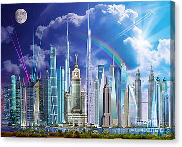 Khalifa Canvas Print - Tall Buildings by Garry Walton