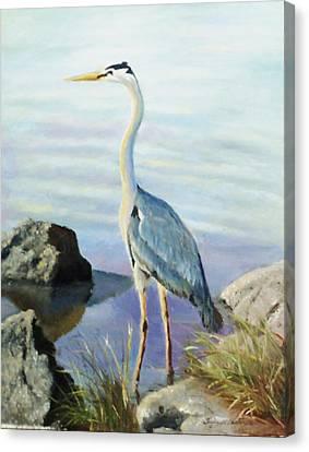 Tall Fellow Canvas Print by Harriett Masterson