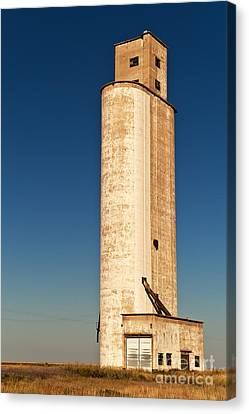 Canvas Print featuring the photograph Tall Grain Elevator by Sue Smith
