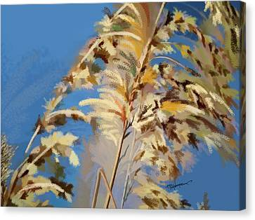 Canvas Print featuring the digital art Tall Grass Mix by Anthony Fishburne