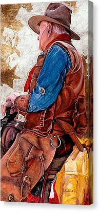 Tall In The Saddle Canvas Print