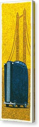 Tall London Taxi Canvas Print by Brian James
