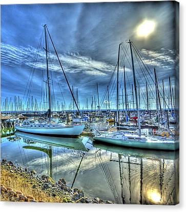 Tall Masts At Rest Canvas Print by Dale Stillman