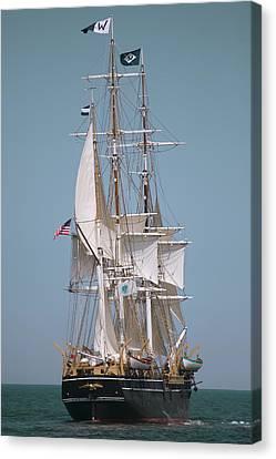 Tall Ship Charles W Morgan Canvas Print by Dapixara Art
