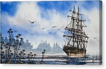 Tall Ship Image Canvas Print - Tall Ship Cove by James Williamson