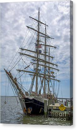 Canvas Print featuring the photograph Tall Ship Gunilla Vertical by Dale Powell