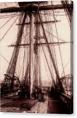Tall Ship Canvas Print by Jack Zulli