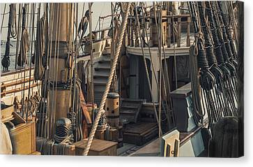 Tall Ship Kalmar Nyckel Ropes Canvas Print by Dapixara Art