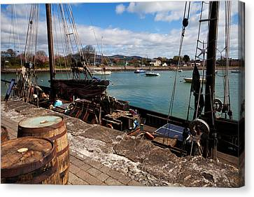 Tall Ship Keeywaydin , Dungarvan Canvas Print by Panoramic Images