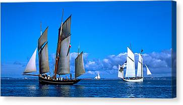 Tall Ship Regatta Featuring Cancalaise Canvas Print by Panoramic Images