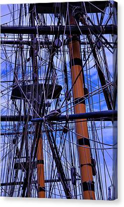 Tall Ship Rigging Of The Hms Surprise Canvas Print by Garry Gay