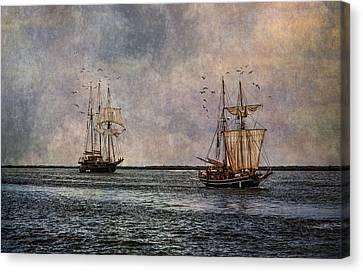 Tall Ships Canvas Print by Dale Kincaid