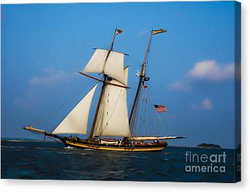 Canvas Print featuring the digital art Tall Ships Over Charleston by Dale Powell