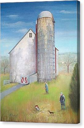 Tall Silo Canvas Print by Oz Freedgood
