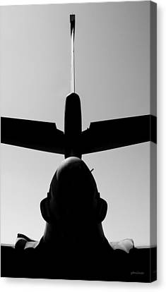 Canvas Print featuring the photograph Tall Tail - B-1b/7 Wishes by Steven Milner