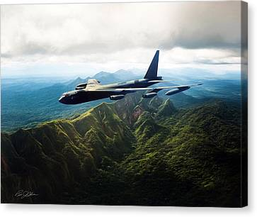 Tall Tail B-52 Canvas Print by Peter Chilelli