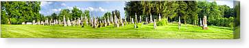 Tall Tombstones Panorama Canvas Print by Thomas Woolworth