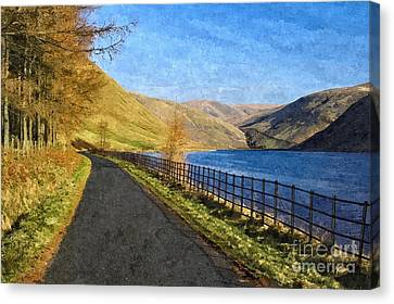 Talla Reservoir Scottish Borders Photo Art Canvas Print