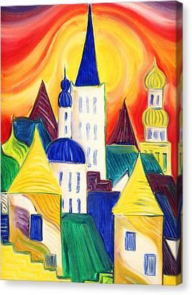 Tallinn Canvas Print by Kate Shannon