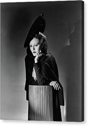 Tallulah Bankhead For The Play The Little Foxes Canvas Print by Horst P. Horst